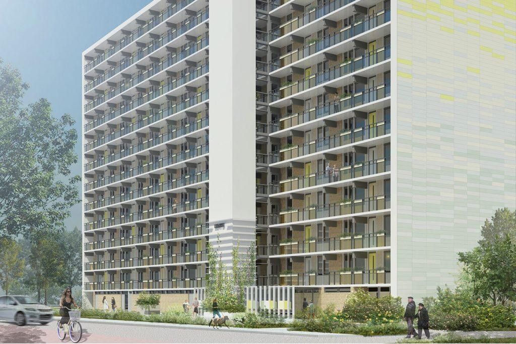 DOOR-architecten-Mercuriusflats-gevelbekleding Eskra Bouw